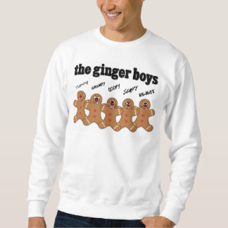 """""""Die Ingwer-Jungen-"""" Lebkuchen-Mann-Jungen-Band Sweatshirt"""