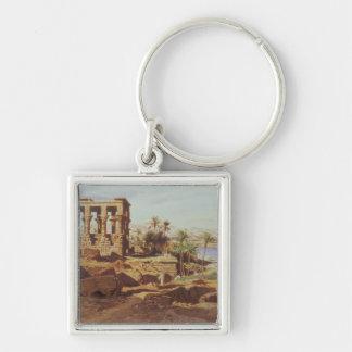 Die Insel von Philae, 1866 (w/c) Schlüsselanhänger