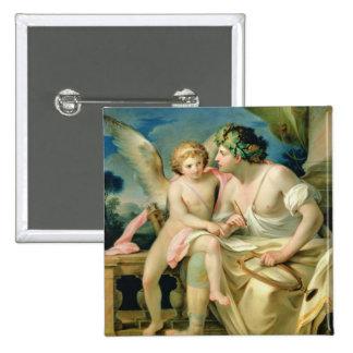 Die Inspiration des Dichters, 1785 Quadratischer Button 5,1 Cm