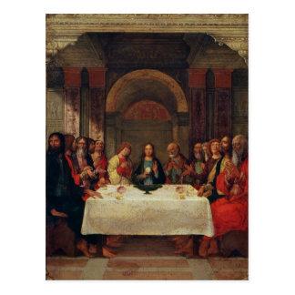 Die Institution des heiligen Abendmahl, c.1490 Postkarte