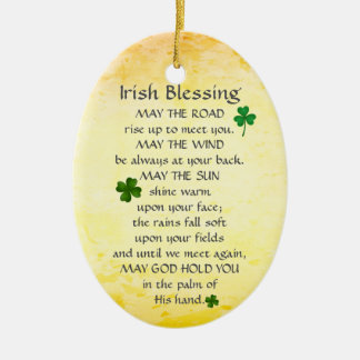 Die irische Segnung kann die Straße oben steigen, Keramik Ornament