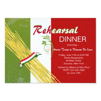 Die ist italienische Proben-Abendessen-Party 12,7 X 17,8 Cm Einladungskarte