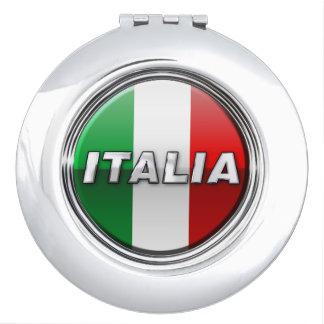 Die italienische Flagge - La bandiera d'Italia Schminkspiegel