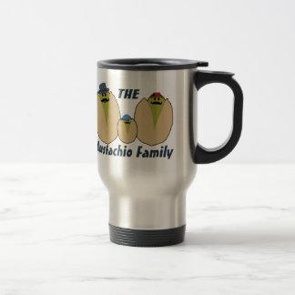 Die italienische Mustachio-Familie Reisebecher