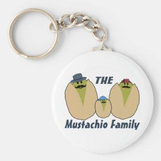 Die italienische Mustachio-Familie Schlüsselanhänger