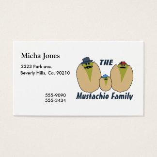 Die italienische Mustachio-Familie Visitenkarte