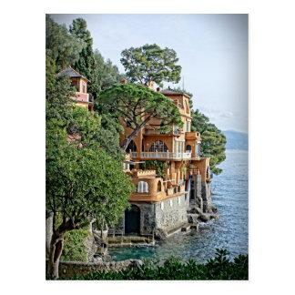 Die italienische Riviera- - Portofinopostkarte Postkarten