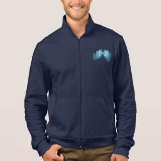 Die Jacke der blauen Bogen-Männer
