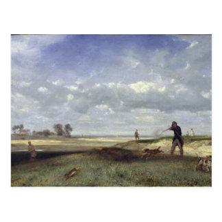 Die Jagd, 1847 Postkarte