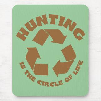 Die Jagd ist der Kreis des Lebens Mousepads