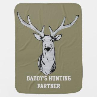 Die Jagd-Partner-Baby-Decke des Vatis Babydecken