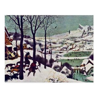 Die Jäger im Schnee, durch Bruegel D. Ä. Pieter Postkarte