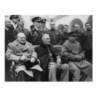 Die Jalta-Konferenz Postkarte
