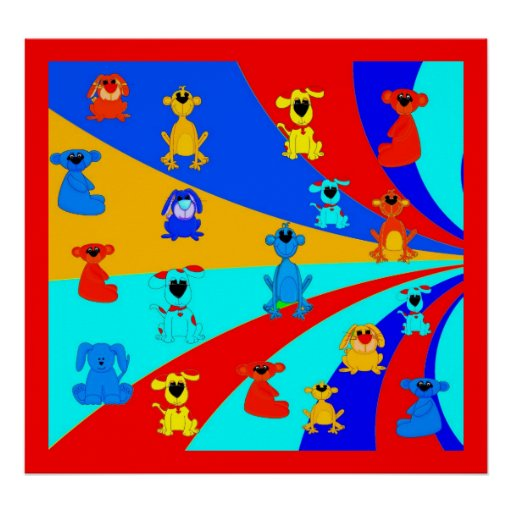Die Jungen-Lose des Plakat-Kindes Tier-Collage 2