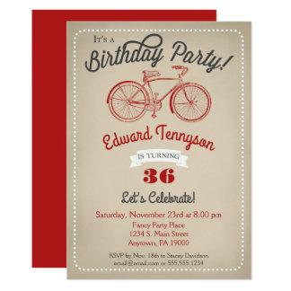 Die Jungen-Vintages Fahrrad der 12,7 X 17,8 Cm Einladungskarte