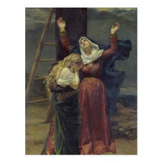 Die Jungfrau am Fuß des Kreuzes Postkarte
