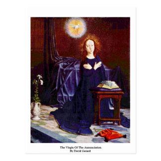 Die Jungfrau der Ankündigung durch David Gerard Postkarte