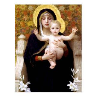Die Jungfrau der Lilien Postkarte