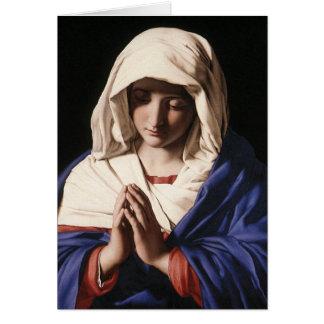 """""""Die Jungfrau im Gebet"""" durch Sassoferrato (1640) Grußkarte"""