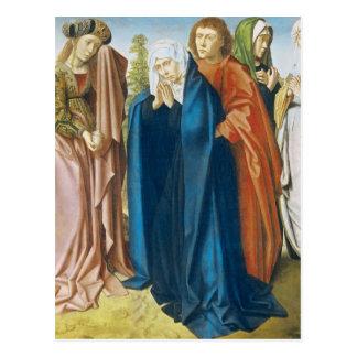 Die Jungfrau Mary mit Johannes der Evangelist Postkarte
