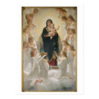 Die Jungfrau mit Angels, 1900 Postkarten