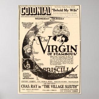 Die Jungfrau Stamboul Vintagen Plakats Poster