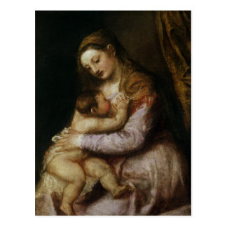 Die Jungfrau und das Kind, c.1570-76 Postkarte