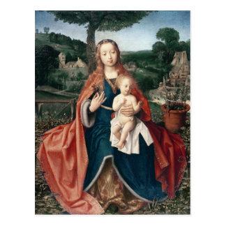 Die Jungfrau und das Kind in einer Landschaft Postkarte