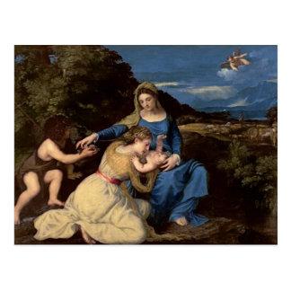Die Jungfrau und das Kind mit Heiligen, 1532 Postkarte