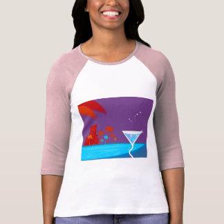 Die Junggeselinnen-Abschied Ausgabe mit Palmen T-Shirt