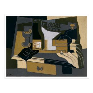 Die Kaffeemühle durch Juan Gris Postkarte