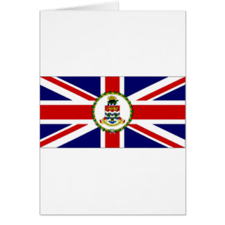 Die Kaimaninseln-Flagge Karte
