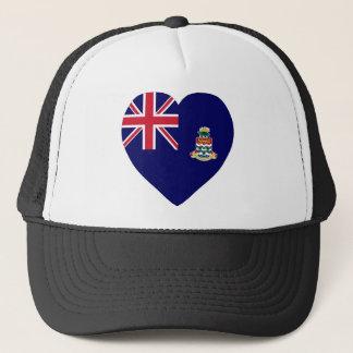 Die Kaimaninseln-Flaggen-Herz Truckerkappe