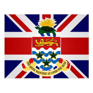 Die Kaimaninseln-Qualitäts-Flagge Postkarte