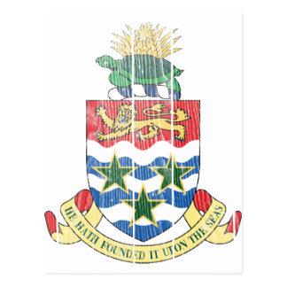 Die Kaimaninseln-Wappen Postkarte