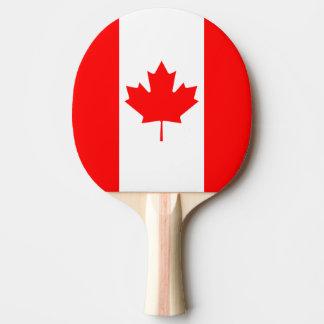 Die kanadische Flagge, Kanada Tischtennis Schläger
