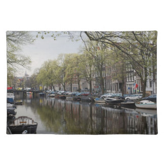 Die Kanäle von Amsterdam Stofftischset