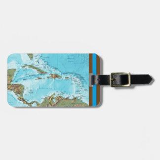 Die Karibischen Meere (Karte) personalisiert Gepäckanhänger