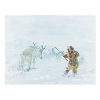 Die Karibu-Jagd durch Shawna Mac Postkarte