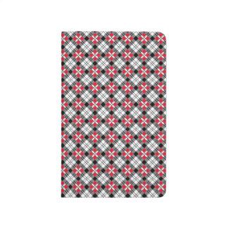 Die karierte Taschen-Zeitschrift Oxfords Taschennotizbuch