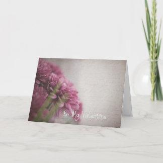 Flower valentine's card