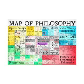Die Karte des Philosophie-Leinwand-Druckes Leinwanddruck
