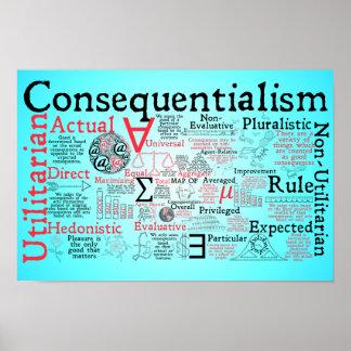 Die Karte von Consequentialism Poster