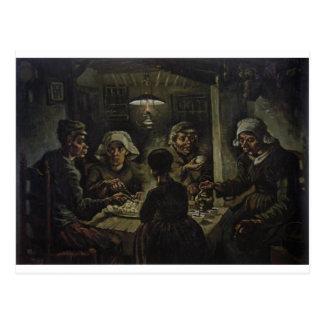Die Kartoffel-Esser - Vincent van Gogh (1885) Postkarte