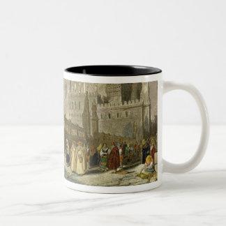 Die Kathedrale in Palermo, Sizilien, graviert von  Kaffee Tassen