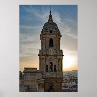 Die Kathedrale von Màlaga Poster
