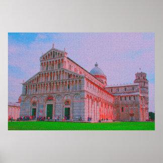 Die Kathedrale von Pisa Poster