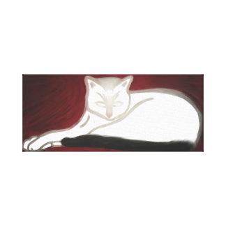 Die Katze auf Leinwand