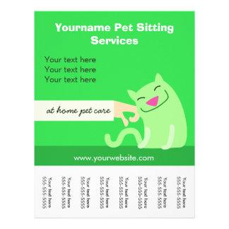 Die Katze des Haustier-Modells Flyer-grün Flyer