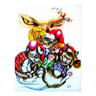 Die Katze dieses Stola-Weihnachten Postkarte